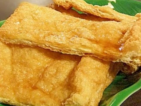 5分レシピ★薄揚げのカリカリおつまみ