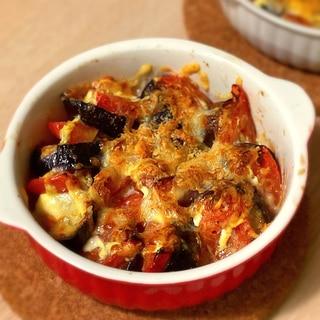 ナスとトマトのオーブン焼き(グラタン)