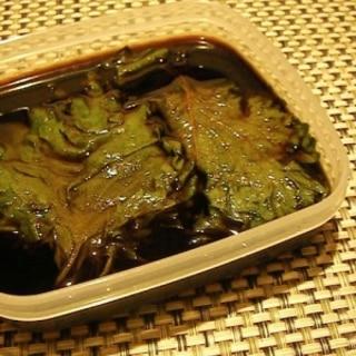 我が家の大葉の簡単大量保存法*大葉の醤油漬け