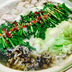 絶品!博多風☆野菜たっぷり醤油もつ鍋
