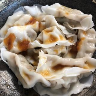 ピリ辛おろしポン酢で♡水餃子