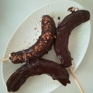 屋台のバナナチョコがアイスバーに〜♪冷んやり美味♡