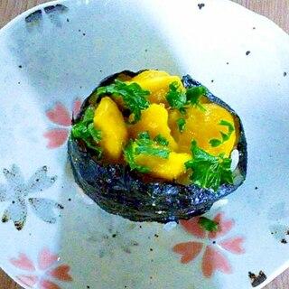 栗の甘露煮とパセリの軍艦寿司