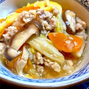 白菜と豚挽き肉の中華風旨煮