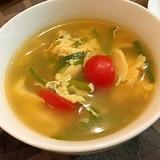 とき卵とニラの中華スープ