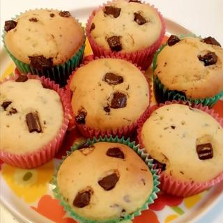 何個も食べたくなる☆チョコチップ入りカップケーキ☆