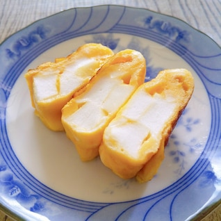 はんぺんとマヨネーズの卵焼き