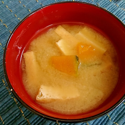 南瓜と厚揚げの味噌汁
