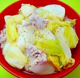 かぶとキャベツ豚肉のコンソメ煮