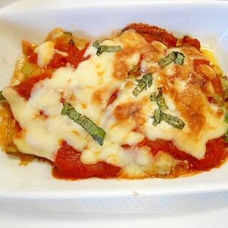 ★長茄子とアスパラのチーズトマトソース焼き★