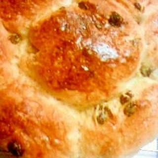 レーズンとくるみのちぎりパン