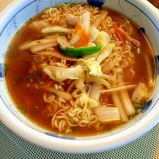 野菜炒めたっぷり☆醤油ラーメン