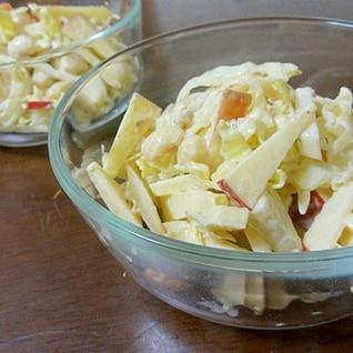 地味にオシャレ♡大根と大豆のコールスローサラダ