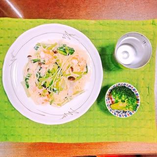 【糖質制限】糖質0麺♡濃厚チーズのクリームパスタ