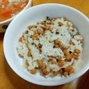 【離乳食】きのこ納豆ご飯