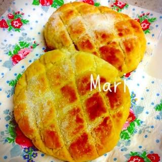 トースターで10分☆食パンが本格メロンパンに変身