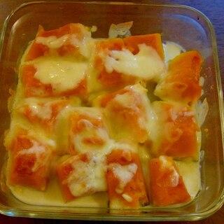 簡単!豆乳でカロリーオフ、かぼちゃグラタン