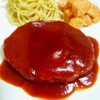 豚挽き肉とダシダでふんわりハンバーグ☆