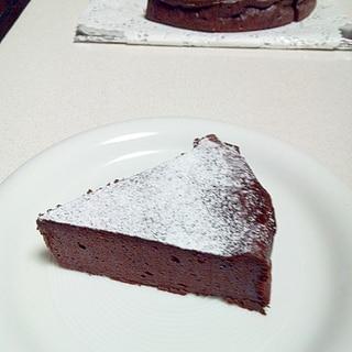 しっとり☆濃厚☆豆腐のヘルシーチョコレートケーキ