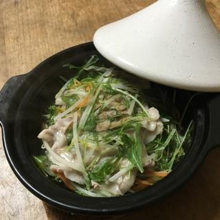 水菜のタジン鍋