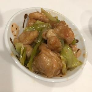 鶏むね肉と春キャベツのポン酢炒め