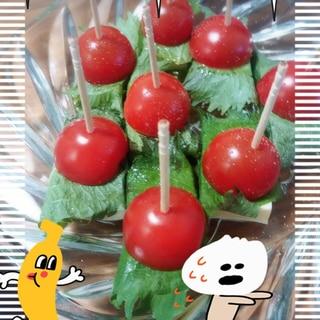 なんかオシャレ(´皿`●)塩豆腐のピンチョス