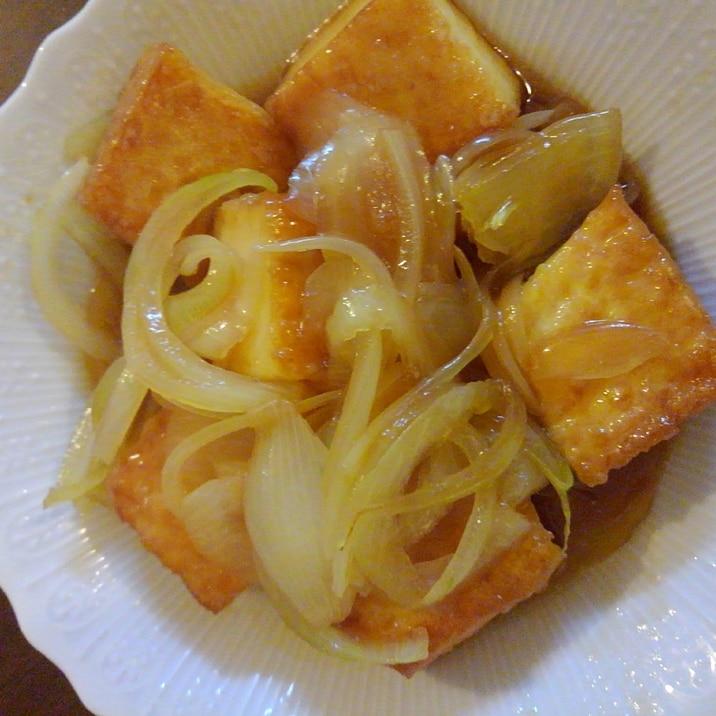 簡単、作り置き♪厚揚げと玉ねぎの簡単煮