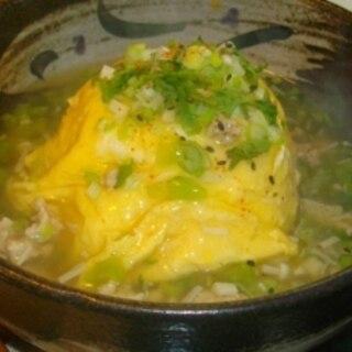 鶏のひき肉と大根の葉の和風天津飯