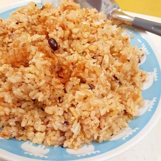 簡単!(^^)雑穀米と豚ひき肉&白菜キムチの炒飯♪