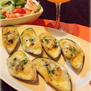 ☆★ムール貝のガーリックバターチーズ焼き♪★☆