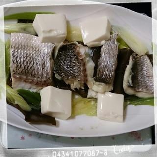 レンジで鯛の昆布蒸し