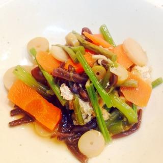 山菜ミックスで☆山菜と揚げの炒め煮☆