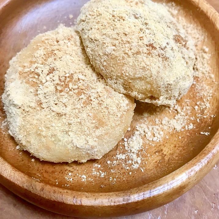 サイリウム(オオバコ)とおからで作る超簡単きな粉餅