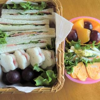 こどものお弁当★遠足サンドイッチ弁当