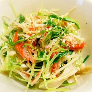 簡単箸休め小鉢★水菜・えのき・カニカマのポン酢和え
