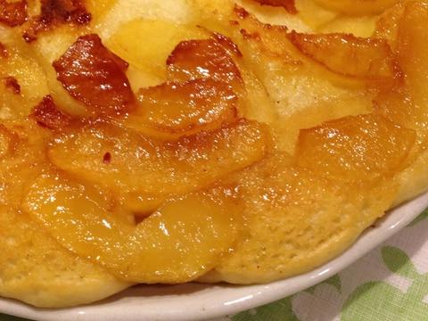 フライパン*もちもちりんごヨーグルトケーキ卵不使用
