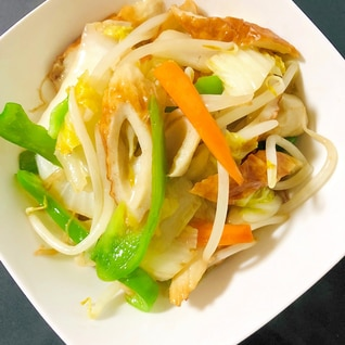 冷蔵庫に有る野菜で中華炒め