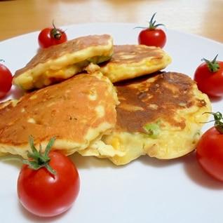 塩味☆お野菜のパンケーキ♪