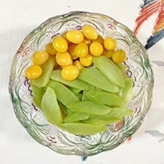 ウドと銀杏の辛子酢味噌和え