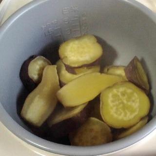 炊飯器でサツマイモ蒸かし
