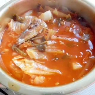 サンマ入りキムチ鍋
