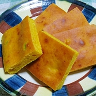 かぼちゃの煮物とHMで 簡単パンプキンケーキ