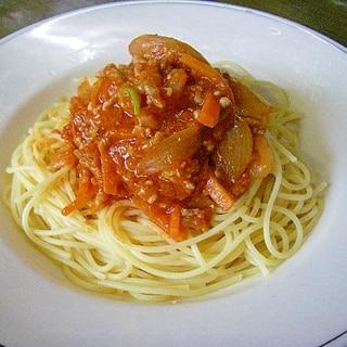有機パスタソースに一手間!美味しいトマトパスタ!