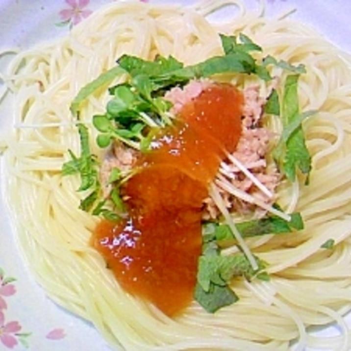 キューピー具のソースで手軽にツナスパゲティ