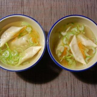 和風さっぱり水餃子スープ
