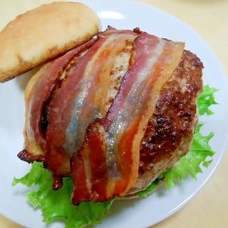 【肉汁とスモーク風味】ベーコンハンバーガー