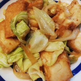 ボリューム副菜★厚揚げとキャベツの甘辛炒め