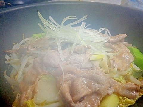 梅風味の豚肉と野菜蒸し