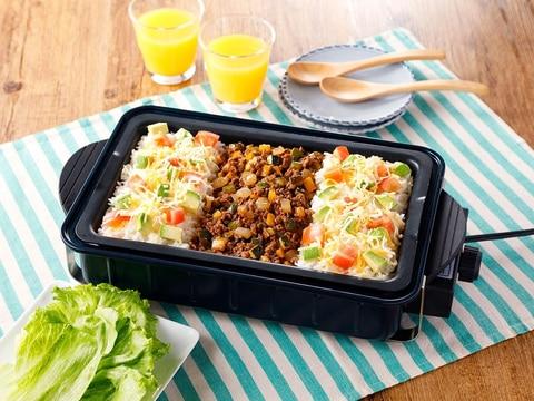 ホットプレートで簡単!夏野菜タコライス