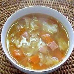 残り野菜を有効活用! スパム入り野菜スープ